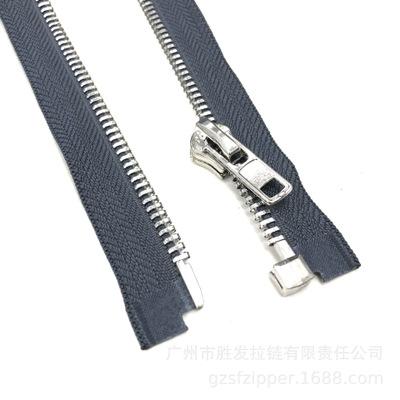 SHENGFA Dây kéo kim loại Nhà máy tùy chỉnh số 8 dây kéo kim loại mở đuôi đơn kéo mở áo khoác may áo