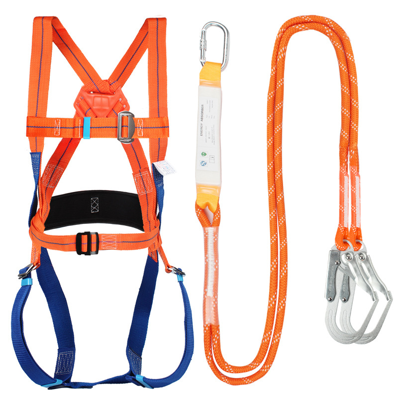 JOHA Five-point high-altitude safety belt, full-body fall protection safety rope, electrician insura