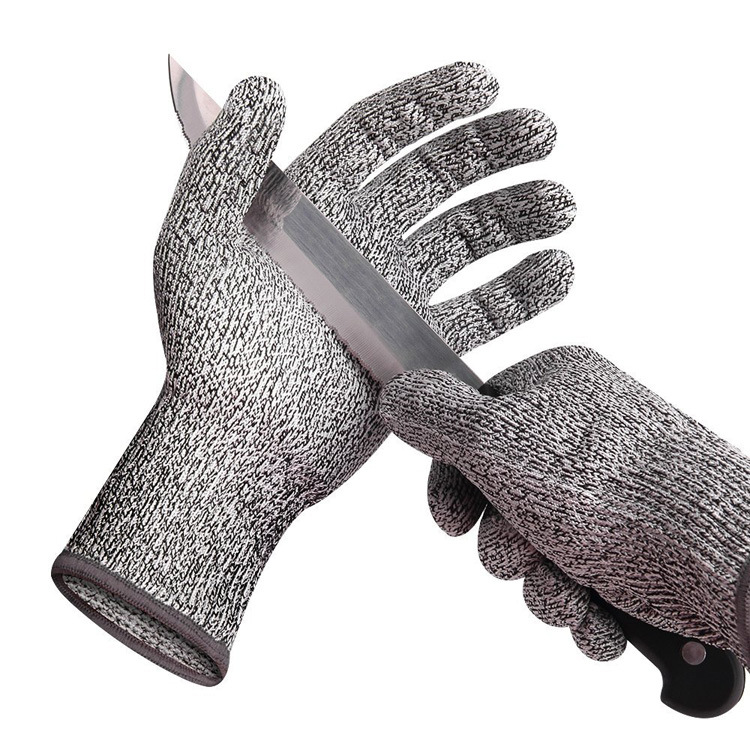 LINGLI HPPE5 grade cut-resistant gloves kitchen hand-cut paper-cut slaughter inspection factory wear