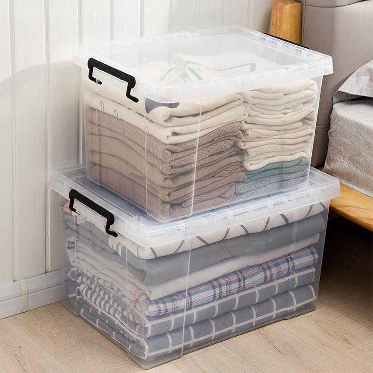 Hộp lưu trữ đồ trong suốt chất liệu nhựa dày 40l-100l