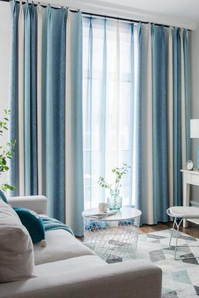 rèm cửa sổ  Rèm cửa phòng khách đơn giản hiện đại Bắc Âu cotton, vải lanh, vải lanh, sang trọng nhẹ,