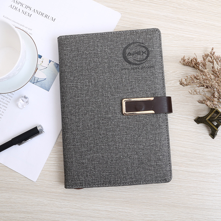 XINZHOU Business leather pu notepad office supplies a5 hand ledger imitation leather cloth pattern b