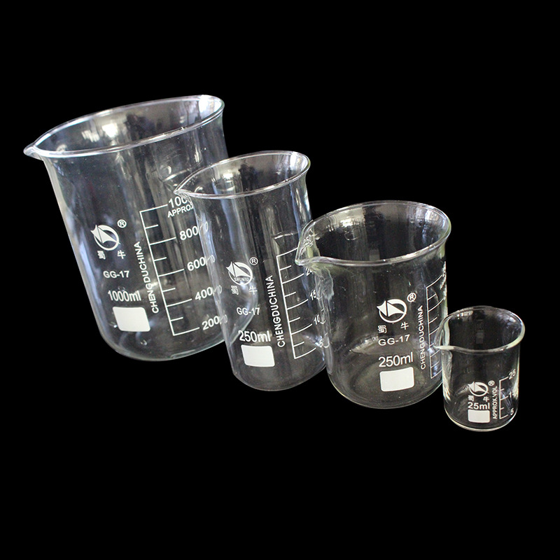 High temperature resistance with scale glass beaker measuring cup laboratory glassware beaker comple