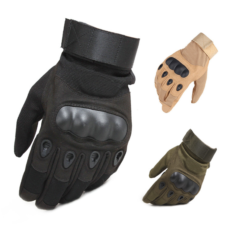 MADIANRUI Black shell outdoor cycling full finger gloves non-slip sports microfiber wear-resistant f