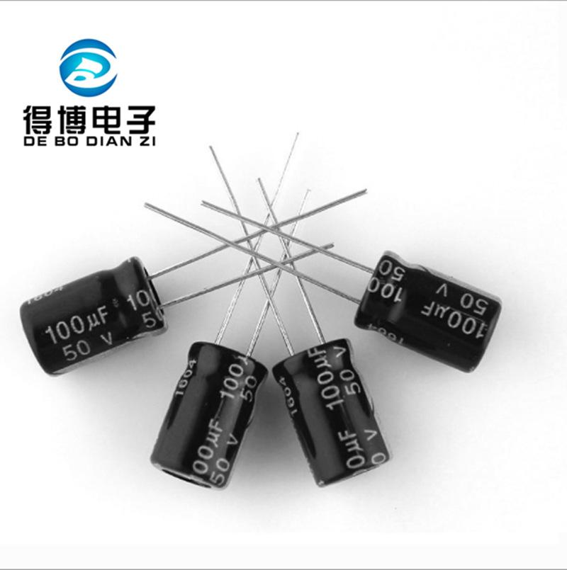 DEBO Electrolytic capacitor 100UF/100V in-line aluminum electrolytic capacitor 100V100UF