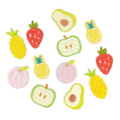 CHANGGUAN phù hiệu vải Nhà máy tùy chỉnh trái cây thêu nhãn dán vải bán buôn miếng dán dâu tây vá má