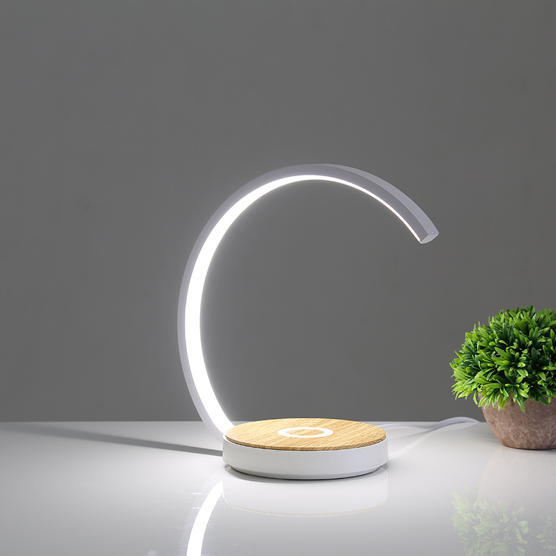 Mobile phone wireless charging desk lamp multi-function touch can rotate multi-speed fast charging b