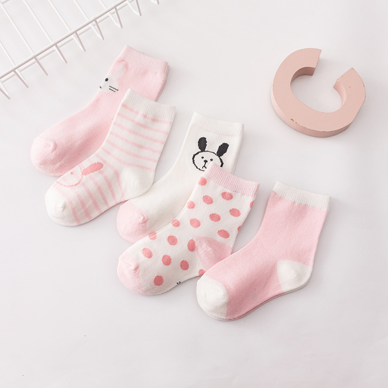 New autumn and winter baby socks cute small animal pattern baby socks comfortable children's cotton