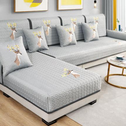 Đệm lót SoFa Đệm sofa bốn mùa phổ thông Bắc Âu đơn giản chống trượt cao cấp bọc da phòng khách hiện