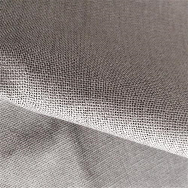 Pure linen grey cloth is directly supplied by the manufacturer, and can be customized for clothing,
