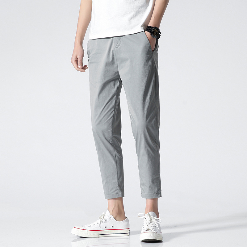 QIYOU 2020 casual pants men's new men's pants thin pants men's trend loose summer Korean version