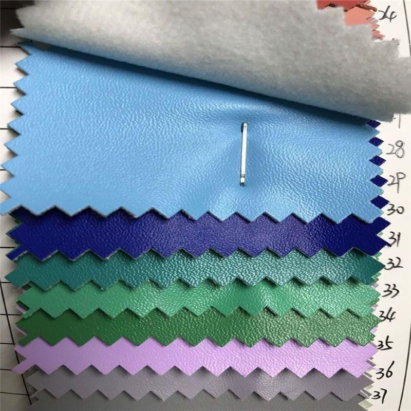 PUXING PU leather environmental protection imitation cotton velvet napa pattern luggage leather shoe
