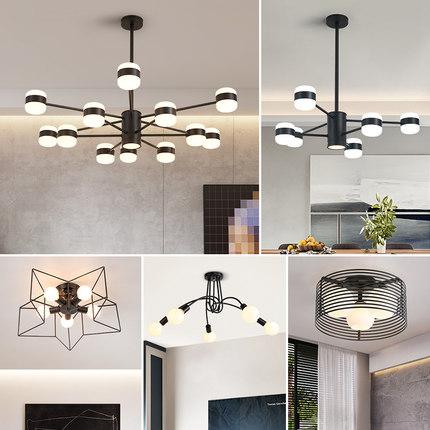 thị trường nội thất , đèn Đèn Bắc Âu và đèn lồng phòng khách đơn giản không khí hiện đại nhà ba phòn