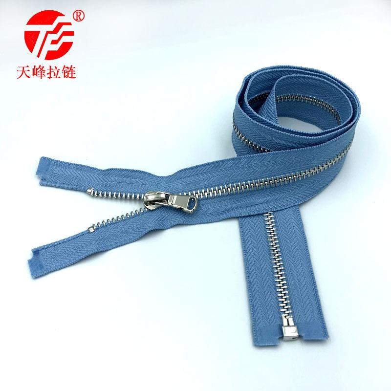 LALASHOU Metal zipper No.5 open tailed garment platinum light gold black gold customizable accessori