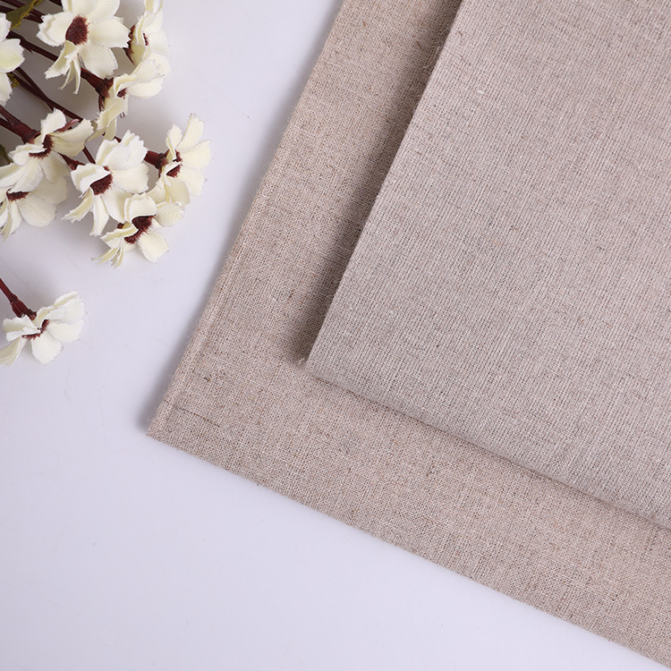 DONGNING 60pcs 150G natural plain weave cotton and linen grey fabric autumn and winter overalls, lug