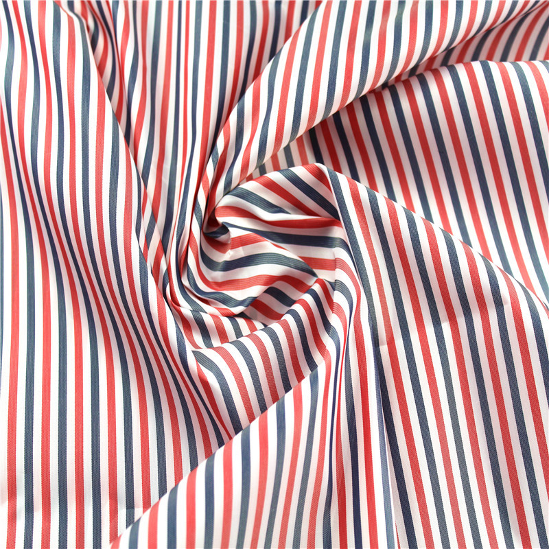 JUNTONG Polyester yarn-dyed sleeves, red, blue and white striped cloth, suit sleeves lining, polyest