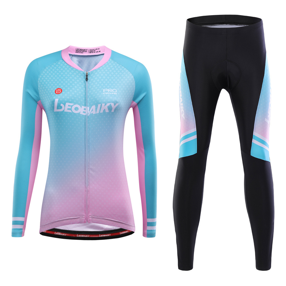 LEOBAIKY LB Fenghua Long Sleeve Cycling Jersey Women's Suit Spring and Autumn Mountain Bike Cycling