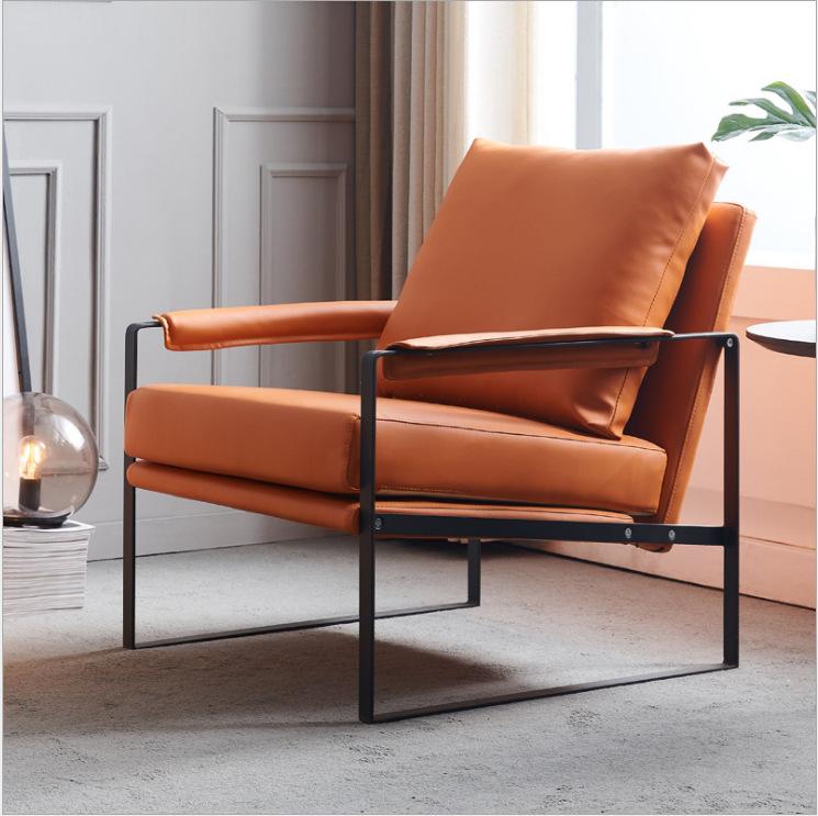 ZILINHONG Reception Nordic single sofa living room ins lazy sofa creative light luxury style sofa le