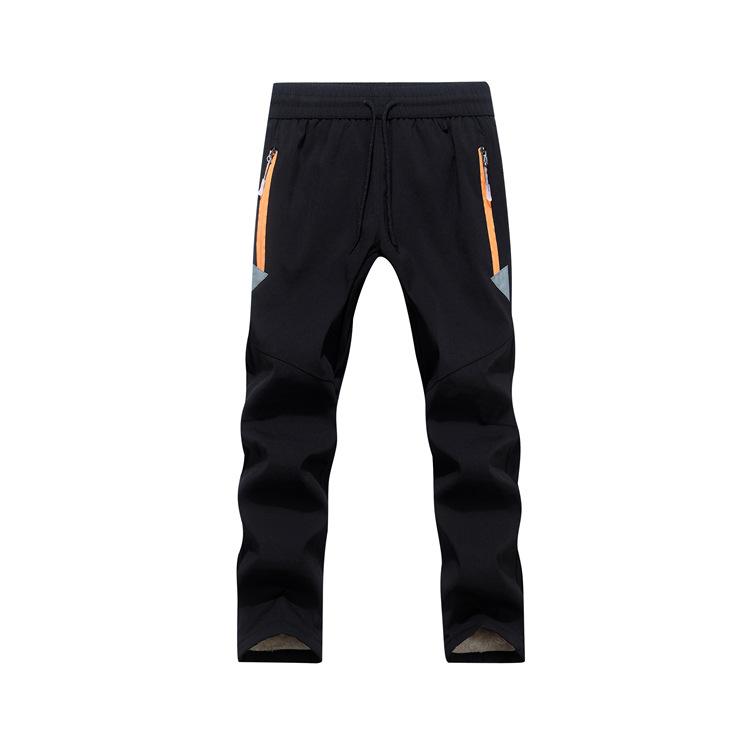 PETUTWO/ New children's assault pants thickened lamb wool outdoor warm school pants reflective cust