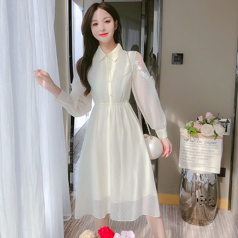 Early autumn chiffon dress fairy super fairy forest women's autumn clothing 2020 new temperament go