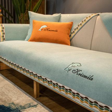 Chenille Đệm lót SoFa Đệm sofa Chenille bốn mùa phổ thông bọc ghế sofa cao cấp chống trơn trượt Bắc
