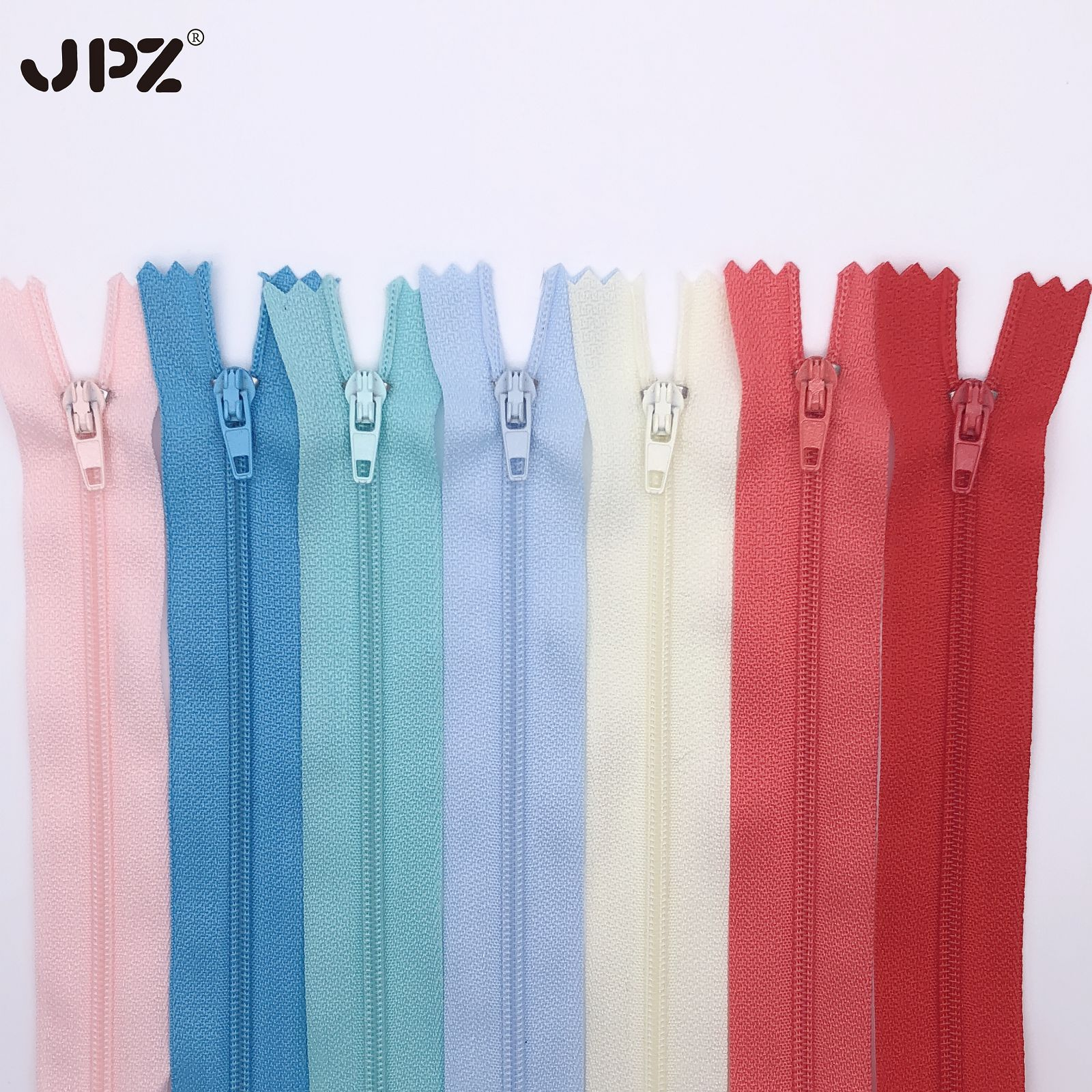 JPZ Factory direct stock No. 3 nylon zipper closed tail self-locking clothing polyester color placke