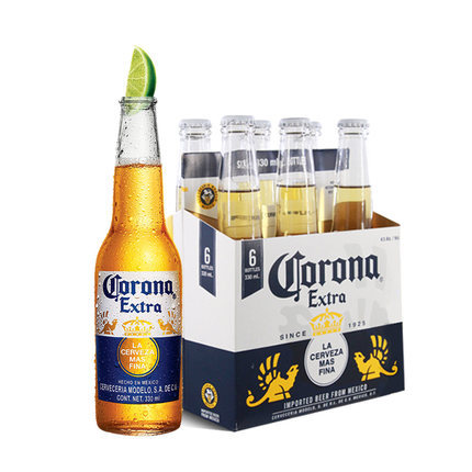 KELUONA Mexican Corona beer 330ml*24 bottles of night KTV party beer FCL