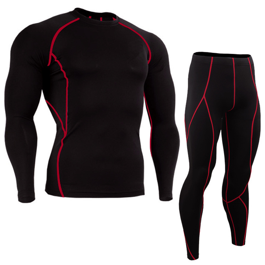 JACK CORDEE Fitness sports running tights T-shirt set Amazon hot sale stretch quick-drying long-slee