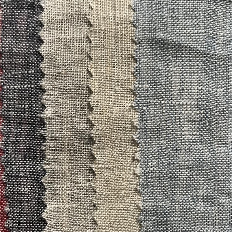 Pure linen yarn-dyed ramie cloth Bamboo knotted linen material Yarn-dyed linen cotton Cotton linen f