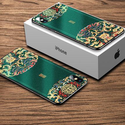 Ốp lưng Iphone 6 Yêu Xuân Apple x vỏ điện thoại xr triều hiệu s chống rơi iphone8 phong cách trung q