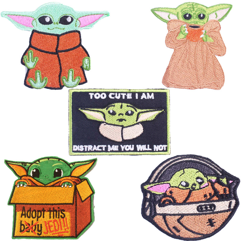 Custom Star Wars Yoda cartoon embroidery cloth paste computer embroidery clothing accessories decora