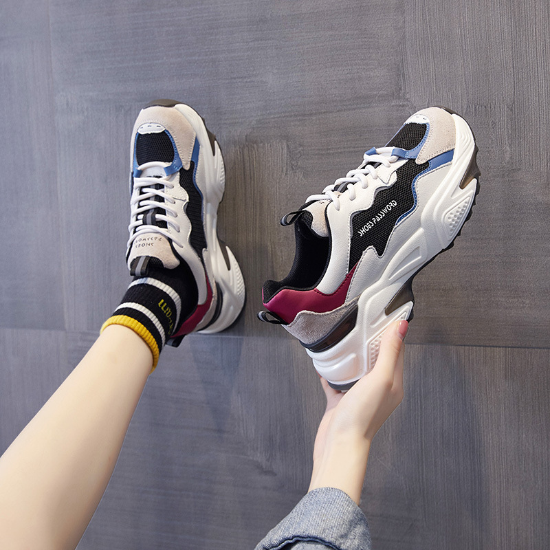 Daddy shoes female ins tide wild show feet small Korean version of ulzzang sports casual shoes color