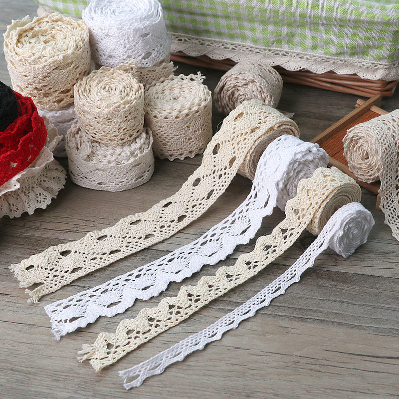QIANCAO Cotton lace with hollow lace lace lace edge accessories decorative cloth clothing cloth DIY