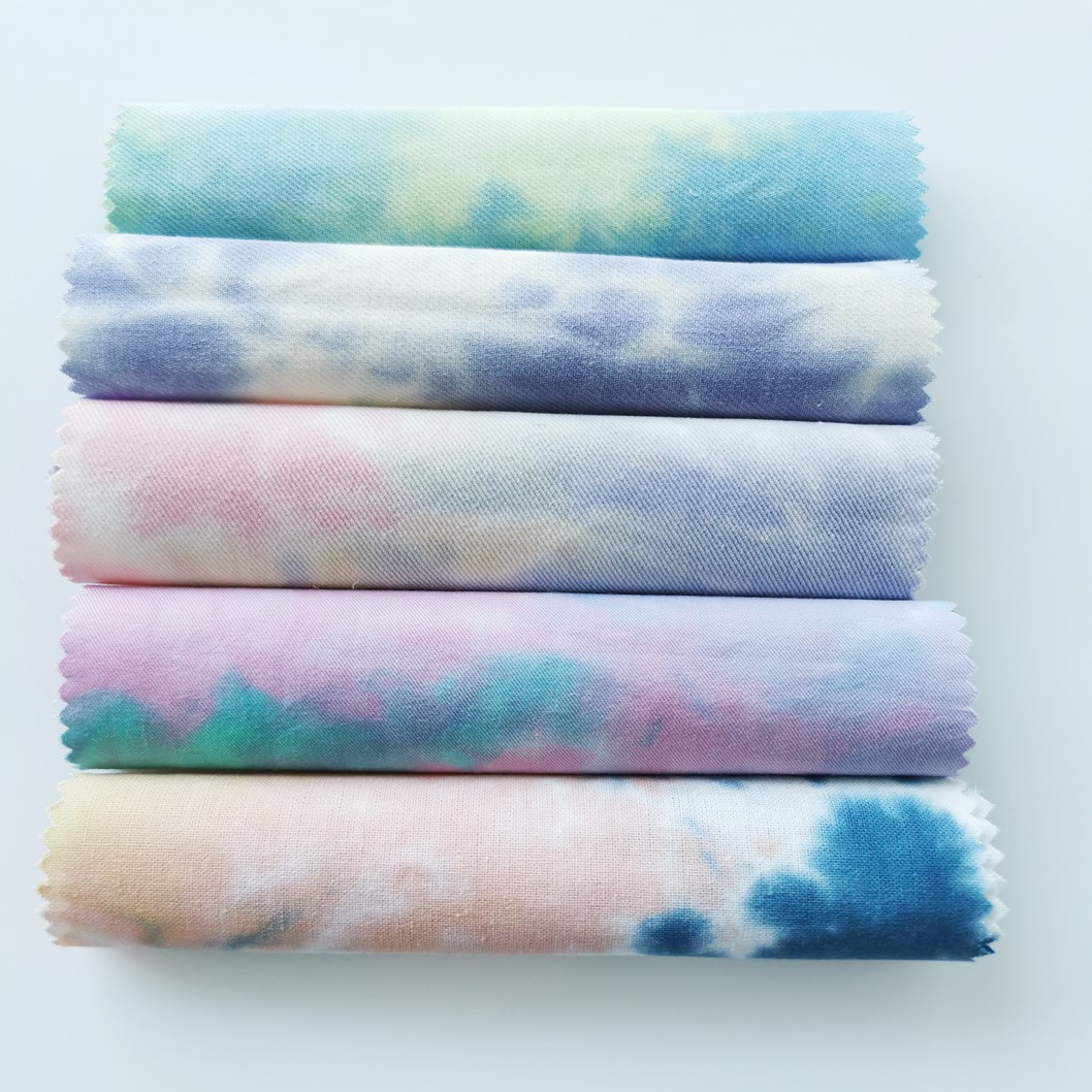 QISHENG Spot cotton tie-dye color tie-dye cloud fabric