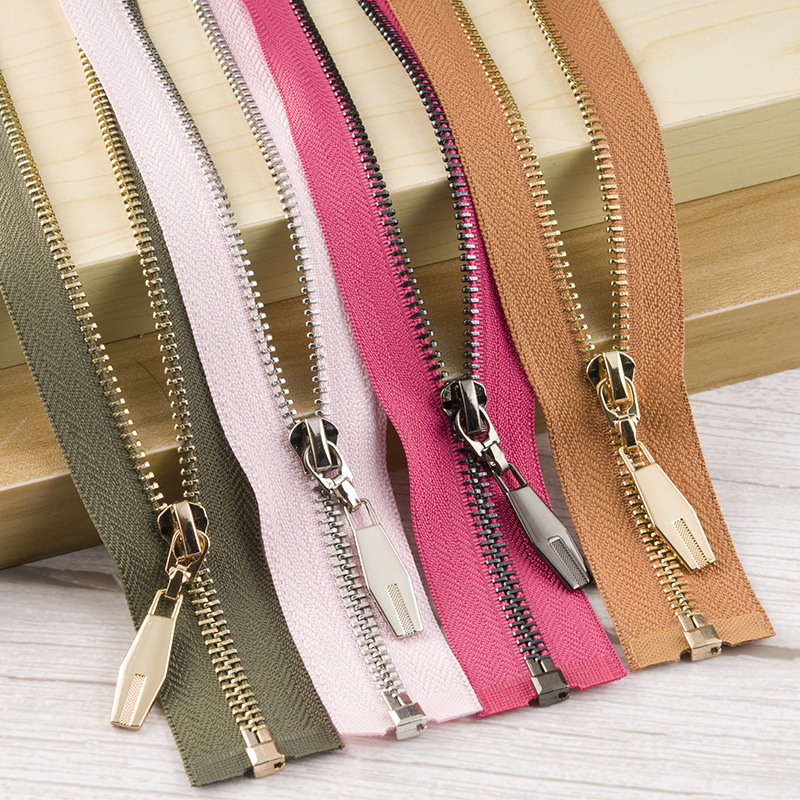 VAB Wholesale No.5 metal zipper textile clothing accessories metal zipper bags protective clothing z
