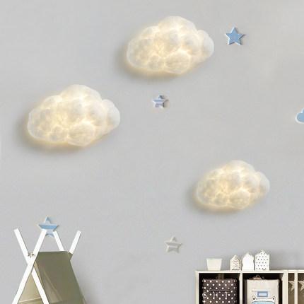 thị trường nội thất , đèn Đèn tường đám mây đỏ đèn tường đám mây trắng mây lụa bông trang trí phòng