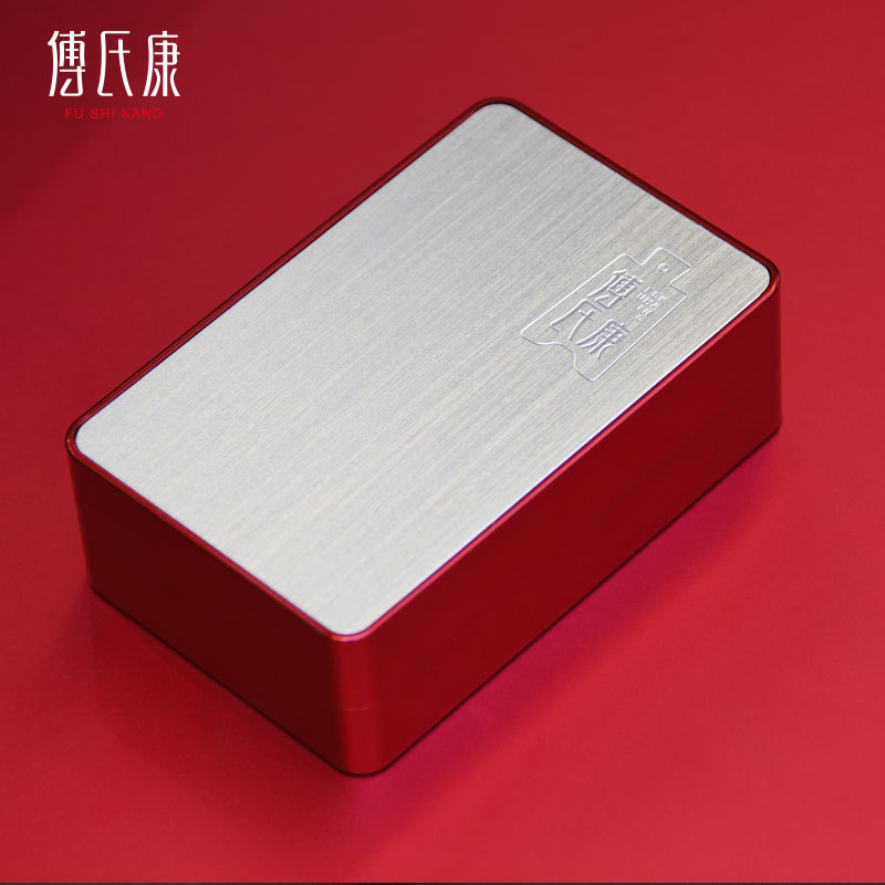 High-end small square tea cans with two bubbles mini portable portable aluminum alloy metal packagin