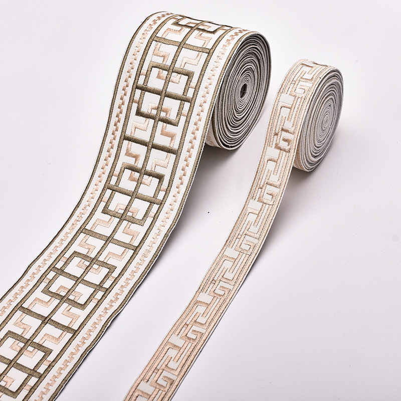 NINGTAI New simple embroidery curtain accessories 9cm stitching lace home fabric decoration ribbon f