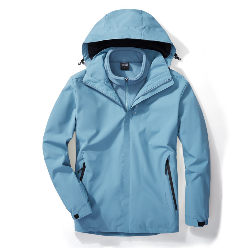 Outdoor jacket men's three-in-one jacket women and men polar fleece liner waterproof cold-resistant