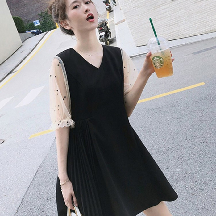 Pregnant women summer dress V-neck dress fashionable pregnancy clothes cover pregnant belly pregnant