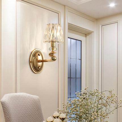 thị trường nội thất , đèn Hậu hiện đại ánh sáng sang trọng đèn tường pha lê phong cách châu Âu nền T