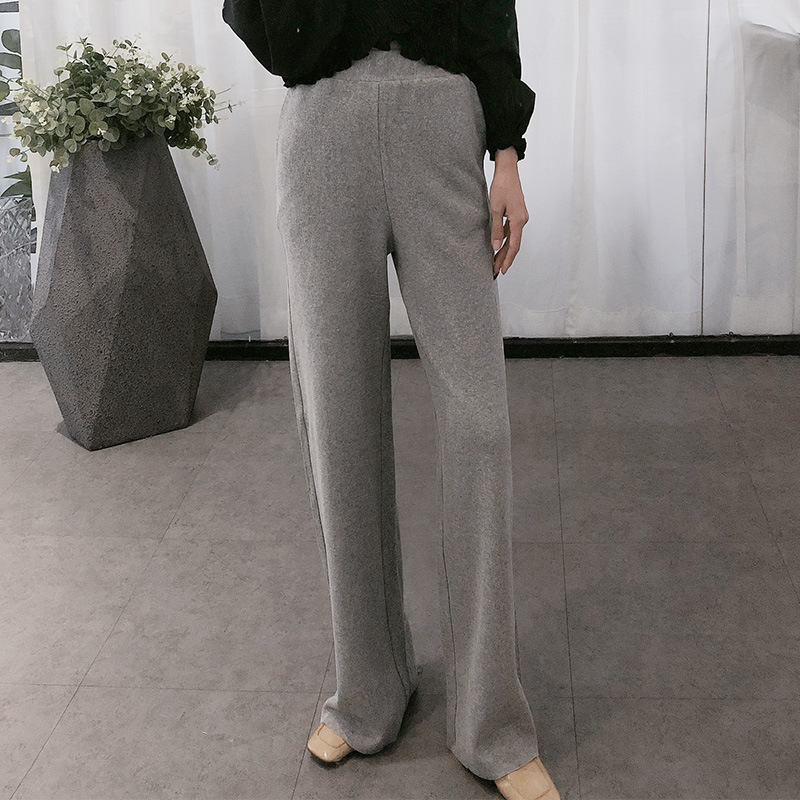 Western style wide-leg pants women's autumn 2020 new products fashion slim high-waist pants all-mat