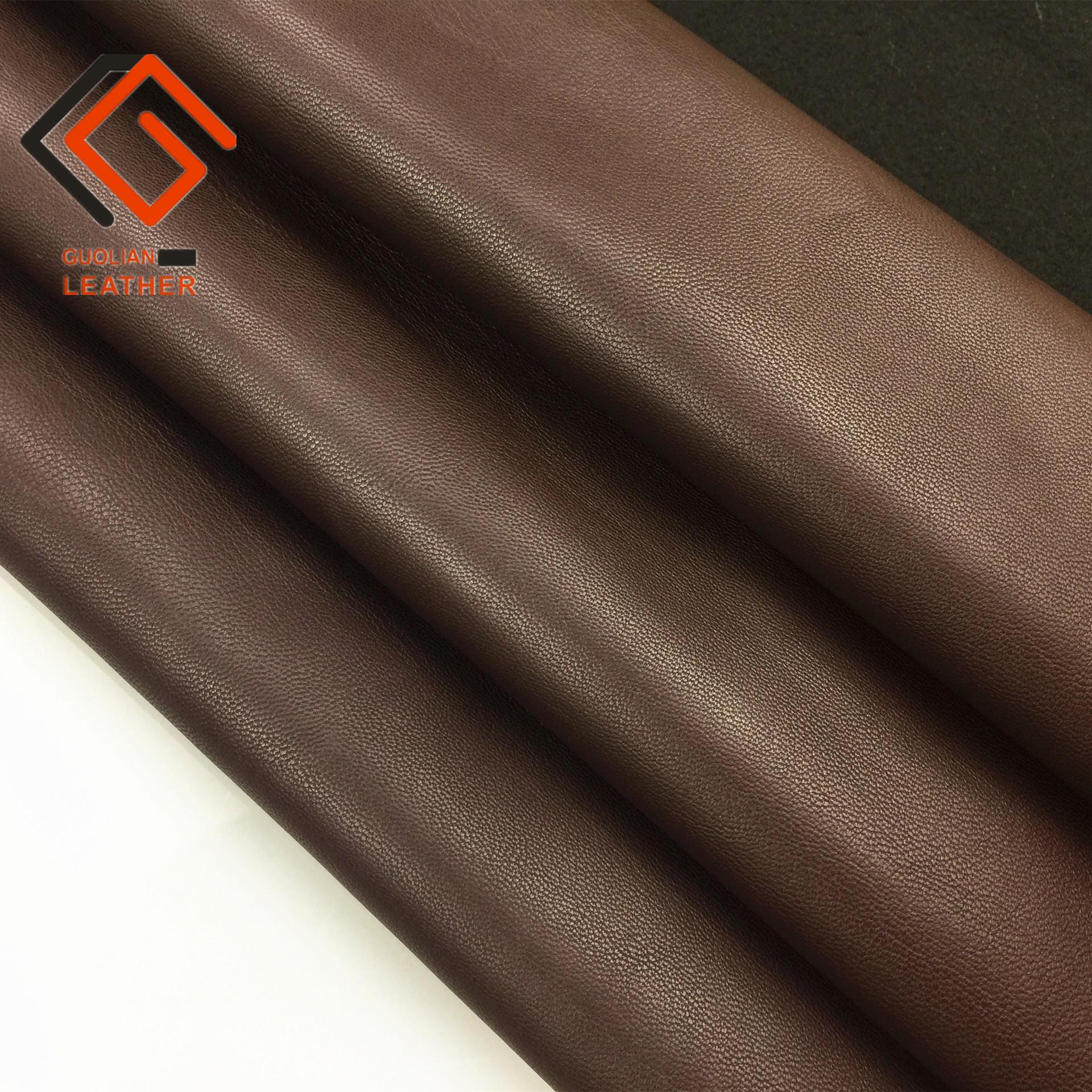 GUOLIAN Semi-PU sheepskin garment leather lamb pattern napa fine pattern soft sofa massage seat fabr