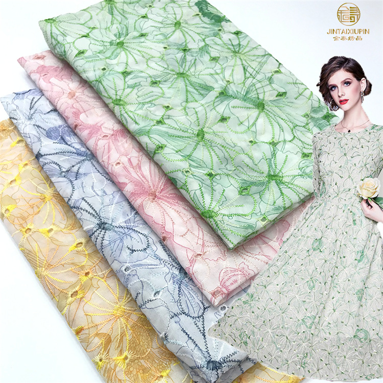 XTW Chiffon embroidered cloth, women's dress, performance clothing, luggage and other clothing, chi
