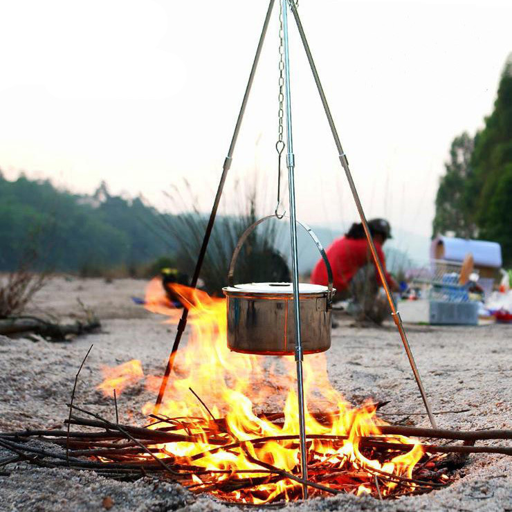 Hike Mount 3 outdoor camping campfire tripod hanging pot picnic fire bracket aluminum alloy tripod c