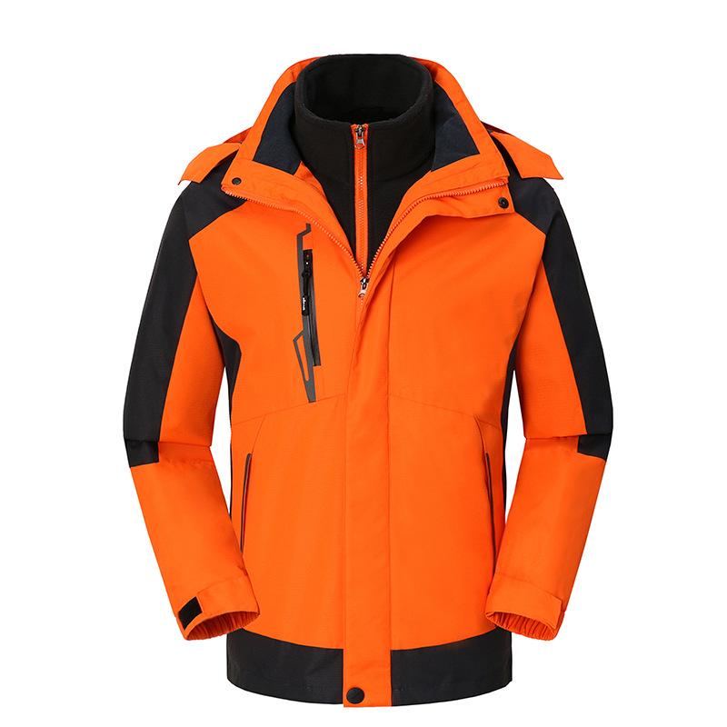 Jacket men's three-in-one new detachable couple jacket winter thick waterproof