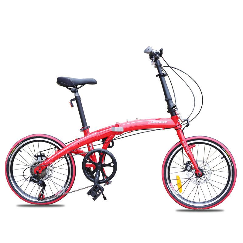 Xe đạp gấp mini siêu nhẹ 20 inch phanh đĩa trước và sau