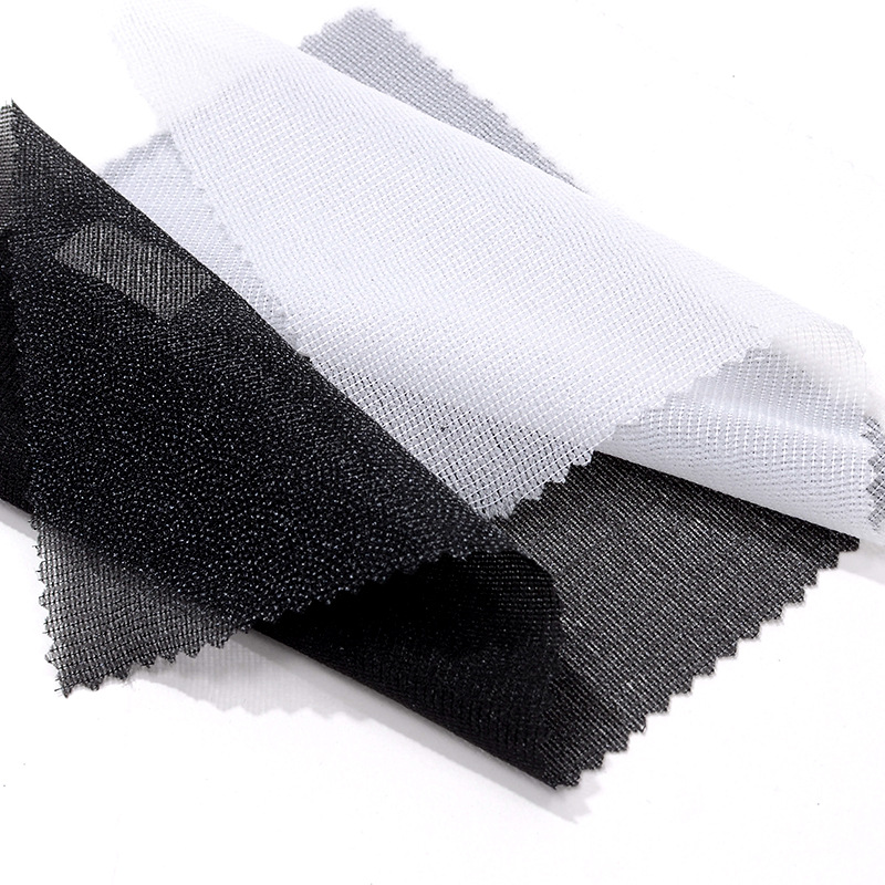 ANSI Two side elastic knitted plain spun interlining fabric 3040 knitted plain interlining
