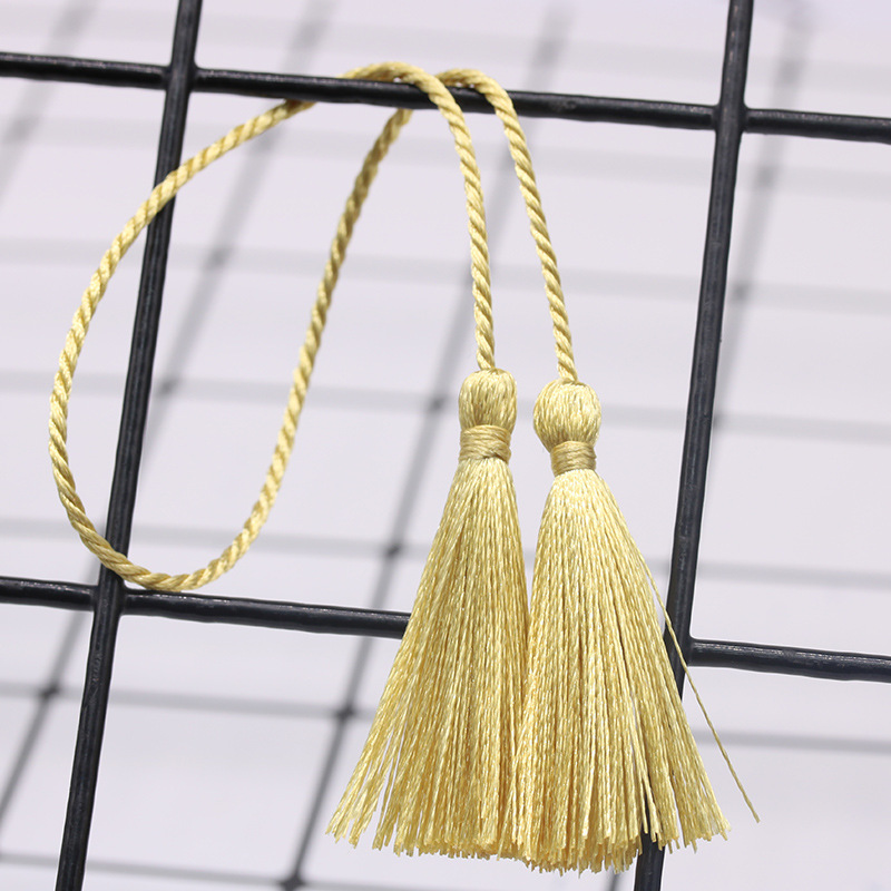 LIFANG Accessories Polyester ice silk 28cm double end long tassel hand woven rope hanging ear