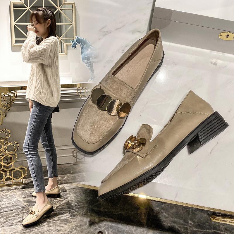 Giày mọi đế thấp kiểu da lộn dành cho nữ